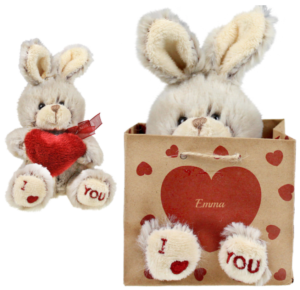 Kanin med hjerte, dåbsgaver. personlige gaver