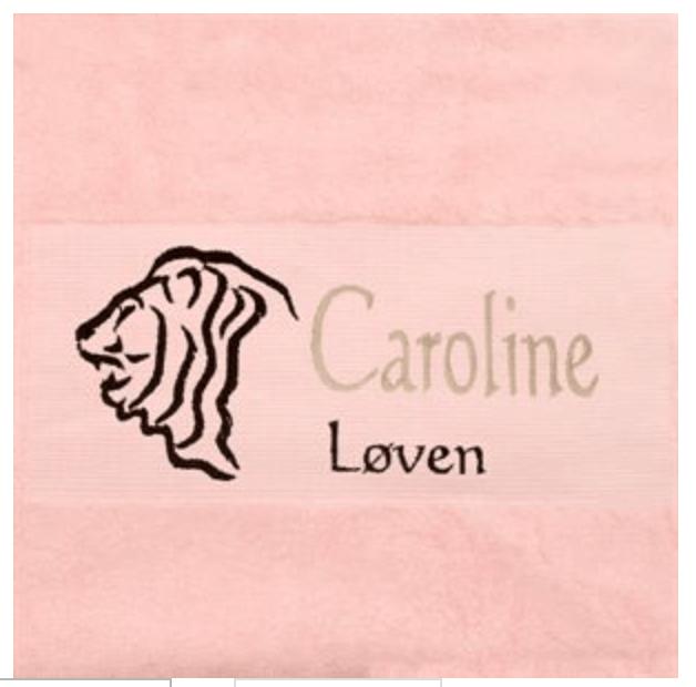 Håndklæde, personlig dåbsgave, gave til nyfødt, barselsgave